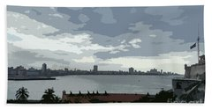 Fort River City Art Beach Towel