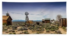 Fort Rock Museum Beach Towel