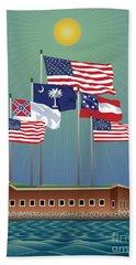 Fort Sumter, Charleston, Sc Beach Towel