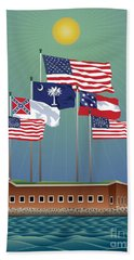Fort Sumter, Charleston, Sc Beach Sheet