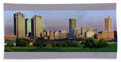 Beach Towel featuring the photograph Fort Worth Colorful Sunset by Jonathan Davison