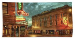 Fort Worth Impressions Main And Exchange Beach Towel