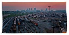 Fort Worth Trainyards Beach Towel