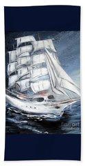 Fortunate. Sailing Ship Beach Sheet