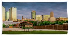 Fortworth Texas Cityscape Beach Towel