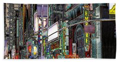 Beach Towel featuring the photograph Forty Second And Eighth Ave N Y C by Iowan Stone-Flowers