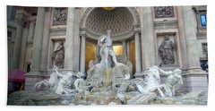 Forum Shops Statues At Ceasars Palace Beach Towel