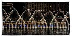 Fountain At Bellagio 4 Beach Towel by Walt Foegelle