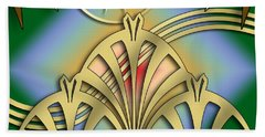 Fountain Design 3 - Chuck Staley Beach Towel by Chuck Staley