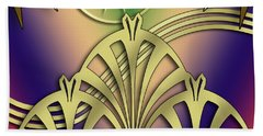 Fountain Design 4 - Chuck Staley Beach Towel by Chuck Staley
