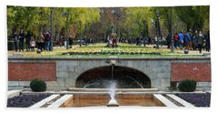 fountain in Buen Retiro  Beach Towel