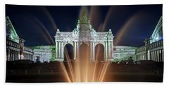 Beach Towel featuring the photograph Fountain In Parc Du Cinquantenaire - Brussels by Barry O Carroll