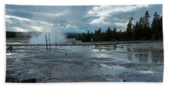 Fountain Paint Pot Area Beach Towel by Cindy Murphy - NightVisions
