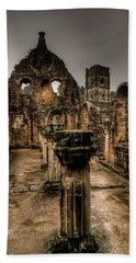 Fountains Abbey In Pouring Rain Beach Towel