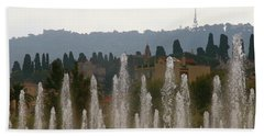 Beach Towel featuring the photograph Fountains At Dawn by Rasma Bertz