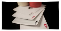 Four Aces Poker Beach Towel