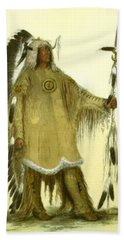 Four Bears Mandan Chief 1833 Beach Towel
