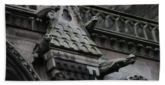 Four Gargoyles On Notre Dame North Beach Towel
