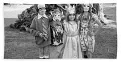 Four Girls In Halloween Costumes, 1971, Part One Beach Sheet
