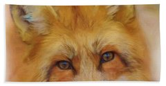 Fox Face Taken From Watercolour Painting Beach Towel