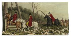 Fox Hunting Going Into Cover Beach Towel