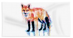 Fox  Beach Towel by Marian Voicu