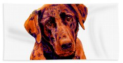 Fox Red Labrador Painting Beach Sheet