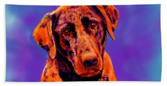 Fox Red Labrador Painting IIi Beach Towel
