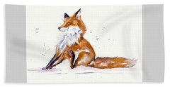 Foxy Flea Magnet Beach Towel