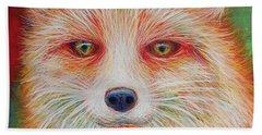 Foxy-loxy Beach Towel by Angela Treat Lyon