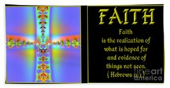 Fractal Faith Hebrews 11 Beach Towel