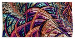 Beach Towel featuring the painting Fractal Farrago by Susan Maxwell Schmidt