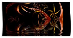 Fractal Fireworks Reflections Beach Towel