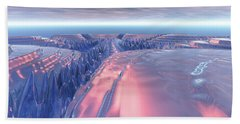 Fractal Glacier Landscape Beach Sheet by Phil Perkins