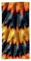 Beach Sheet featuring the digital art Fractal Pattern Orange And Black by Matthias Hauser