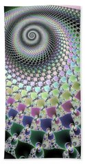 Beach Sheet featuring the digital art Fractal Spiral Hypnotizing Op Art by Matthias Hauser