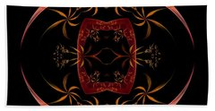 Fractal Symmetry Beach Towel