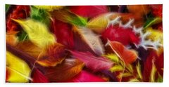 Beach Towel featuring the photograph Fractalius Leaves by Shane Bechler