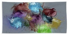 Fractured Bouqet 1 Pc Beach Towel by John Krakora