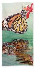Fragile Reflection Beach Towel by Annie Poitras