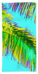 Fragment Of Coconut Palm Psychedelic Beach Towel