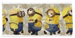 Fragmented And Still In Awe Congratulations Minions Beach Towel