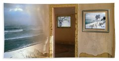 Beach Towel featuring the photograph Framed    by Doug Gibbons