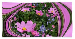 Framed Cosmos Beach Towel