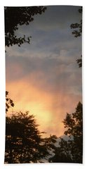 Beach Towel featuring the photograph Framed Fire In The Sky by Sandi OReilly