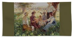 France Country Life  Beach Towel