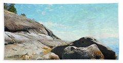 Francis Point - Shore Beach Towel by Ed Hall