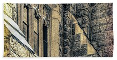 Beach Towel featuring the photograph Franco Center Lewiston Maine by Donna Lee