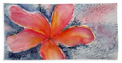 Frangipani Blue Beach Towel