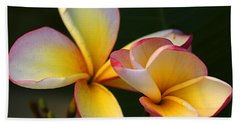 Frangipani Flowers Beach Sheet
